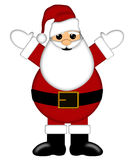 Santa Claus Isolated on White Background Royalty Free Stock Photography