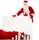Santa Claus with isolated on white Stock Photo
