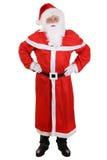 Santa Claus isoleerde volledig lengteportret met hoed en baard Stock Foto
