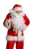 Santa Claus isolerade Arkivbild