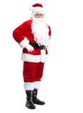 Santa Claus isolerade på vit. Arkivfoton