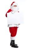 Santa Claus isolerade på vit. Arkivfoto