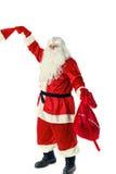 Santa Claus isolerade på vit Royaltyfria Bilder
