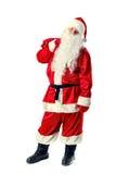 Santa Claus isolerade på vit Fotografering för Bildbyråer