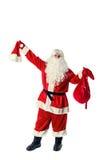 Santa Claus isolerade på vit Arkivfoton