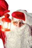 Santa Claus isolerade på vit Arkivfoto