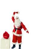 Santa Claus isolerade på vit Royaltyfria Foton