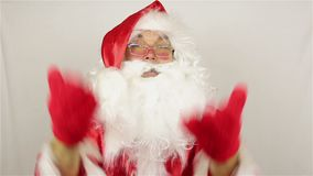 Santa Claus ist freundlich stock video footage
