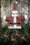 Santa Claus jacket and hat Stock Image