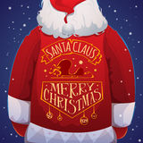 Santa Claus with jacket Royalty Free Stock Images