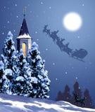 Santa claus jeździ ilustracji