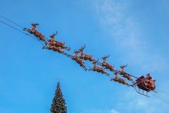 Santa claus jego sanie Fotografia Stock
