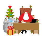 Santa Claus job. Letters from children. Big sack of mail envelop Stock Photos