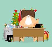 Santa Claus job. Letters from children. Big sack of mail envelop Stock Images