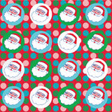 Santa Claus jolly christmas seamless wallpaper stationery vector art Royalty Free Stock Photos