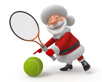 Santa Claus joue au tennis Images stock