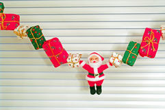 Santa Claus - juldekor Arkivfoton