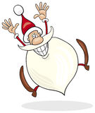 Santa claus jumping Stock Photos