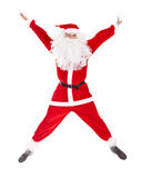 Santa Claus jumping Royalty Free Stock Images