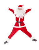 Santa Claus jumping Stock Photo