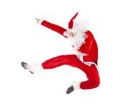 Santa Claus jumping Stock Photos