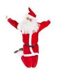 Santa Claus jumping Royalty Free Stock Photo