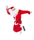 Santa Claus jumping Royalty Free Stock Photography