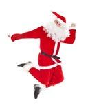 Santa Claus jumping Stock Image