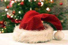 Santa claus kapelusz Obrazy Royalty Free