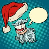 Santa Claus kapelusz i broda ilustracja wektor