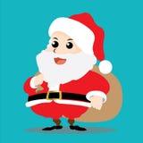 Santa Claus-karakter Stock Afbeelding