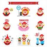 Santa Claus-karakter - reeksen Stock Foto's