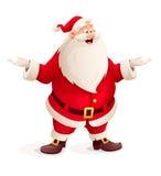 Santa Claus kastar upp händer Royaltyfri Foto