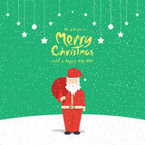 Santa Claus (Kerstkaarten) Stock Foto