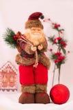 Santa Claus, Kerstmisspeelgoed Royalty-vrije Stock Afbeelding
