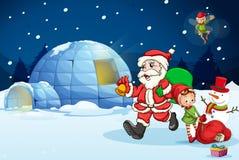 Santa claus and kids Stock Photo