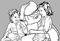 Santa Claus with Kids Stock Images