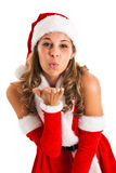 Santa Claus kissing Royalty Free Stock Photo