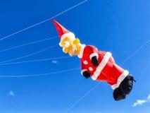 Santa Claus Kite Blue Sky Lizenzfreies Stockbild