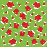 Santa Claus kläder Arkivfoto