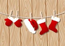 Santa Claus kläder stock illustrationer