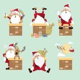Santa Claus kominu kolekcja Obraz Royalty Free