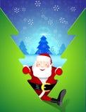 Santa Claus komt bezoeken Stock Afbeeldingen
