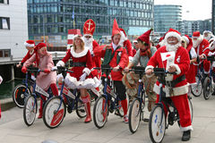 Santa claus kongresu Copenhagen świata. Fotografia Stock