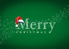 Santa Claus-Kopf mit frohen Weihnachten Lizenzfreie Stockfotos