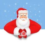 Santa Claus-Kopienraum lizenzfreie abbildung