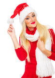 Santa Claus kvinna arkivbild