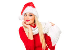Santa Claus kvinna royaltyfri fotografi