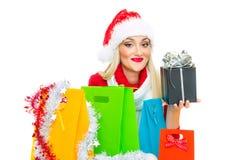 Santa Claus kvinna arkivbilder