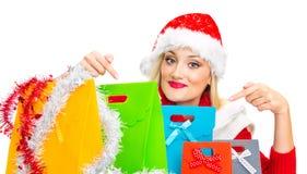 Santa Claus kvinna arkivfoton